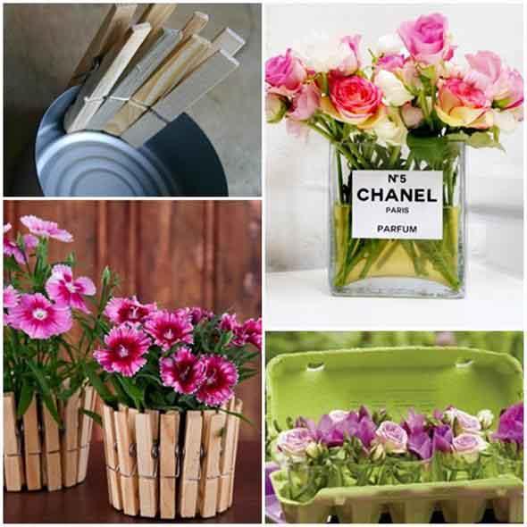 Como fazer vasos artesanais com material reciclado 005