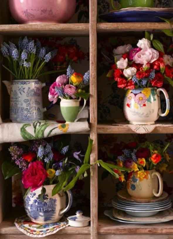 Como fazer vasos artesanais com material reciclado 009