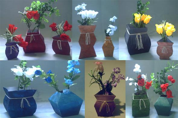 Como fazer vasos artesanais com material reciclado 015