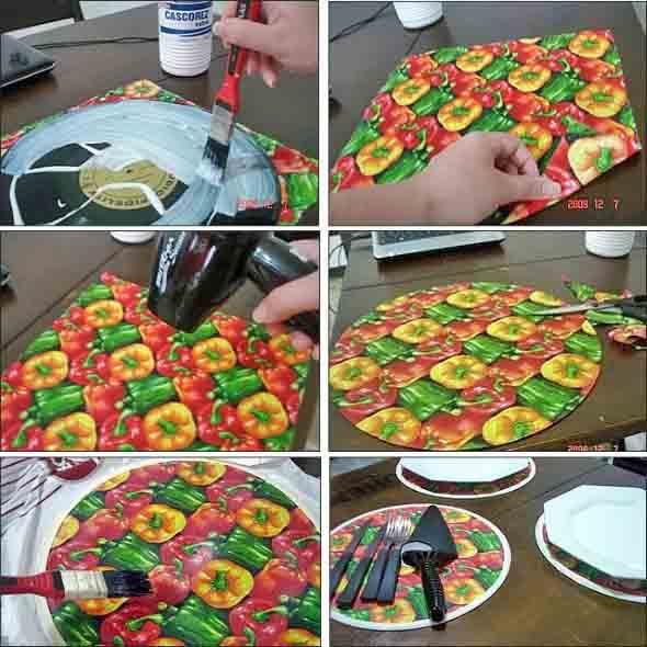 Como fazer arte com discos de vinil 002