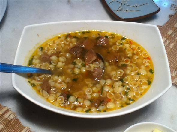 Receita de sopa de legumes com macarrão 002
