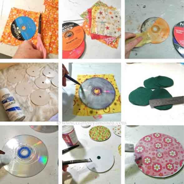 Recicle seus CDs usados com dicas de artesanato 008