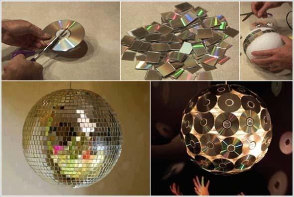 Recicle seus CDs usados com dicas de artesanato 009