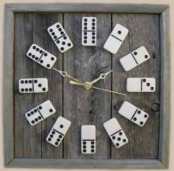 Relógio artesanal criativo 001