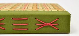 Como fazer caderno com costura aparente