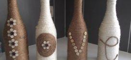 Dicas DIY de artesanato com garrafas de vidro