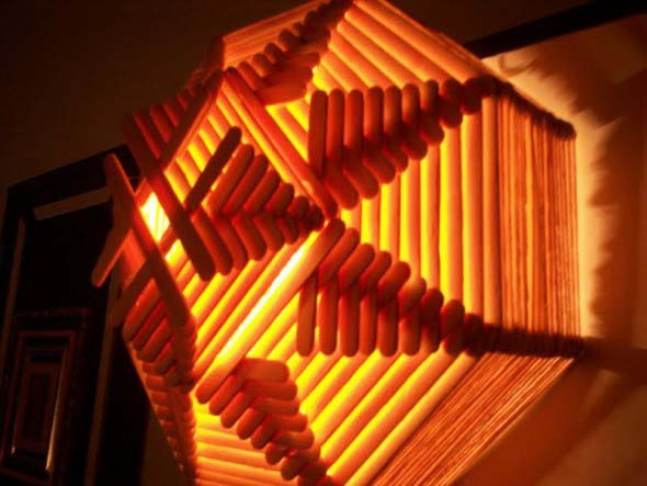 DIY - Como fazer uma luminária com palitos de picolé