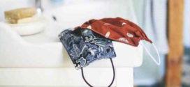 Máscara de tecido sem máquina de costura
