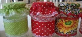 Ideias de artesanato com toalha de mesa usada e vidro