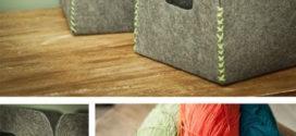 DIY Cestinhos feitos de feltro