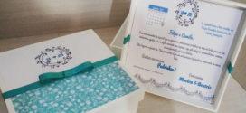 DIY Caixa convite em mdf forrada com tecido